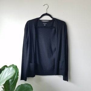 Halogen V-Neck Merino Wool Cardigan S